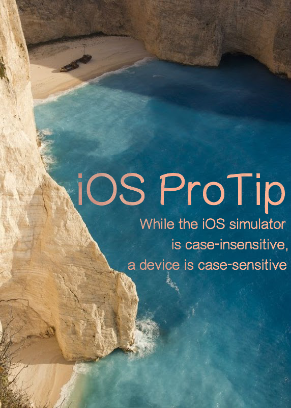 iOS Case Sensitivity